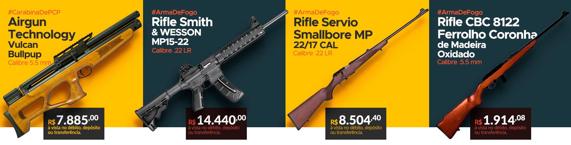 Espingardas, Carabina e Rifle