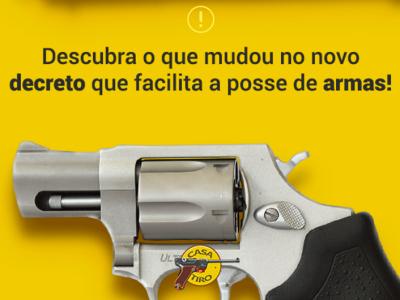 Decreto assinado facilita posse de armas de fogo no Brasil - 2019