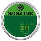 CHUMBINHO RWS DIABOLO BASIC 4.5MM 500 UNID