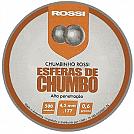 ESFERAS DE CHUMBO ROSSI 4,5MM 500 UNID