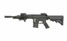 RIFLE AIRSOFT AEG APS ASR111 GUARDIAN TACTICAL STYLE PRETO