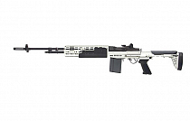 RIFLE AIRSOFT AEG GR14 EBR LONG PRATA